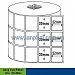Giấy in Decal cho máy in mã vạch (110 x 50 mét)