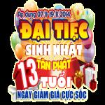 Đại tiệc mừng sinh nhật Tân Phát 13 tuổi-13 ngày giảm giá cực sốc,dai tiec mung sinh nhat tan phat 13 tuoi13 ngay giam gia cuc soc