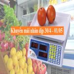 Khuyến mãi cân điện tử dành cho cửa hàng hoa quả, thực phẩm,khuyen mai can dien tu danh cho cua hang hoa qua thuc pham