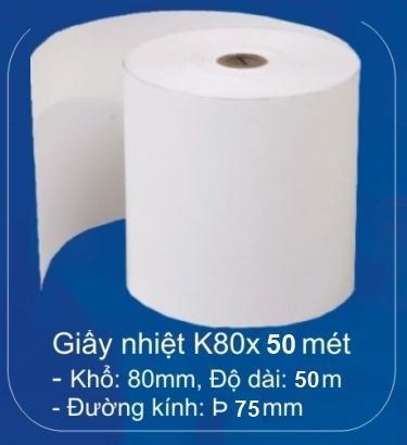 Giấy nhiệt cho máy in hóa đơn K75-K80 ( 50 mét)