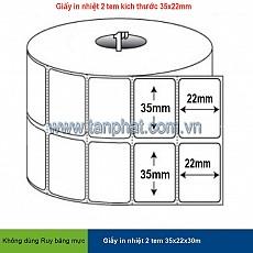 Giấy in cảm nhiệt cho máy in mã vạch (35x22x30 mét)