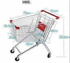 Xe đẩy hàng siêu thị 100 lít